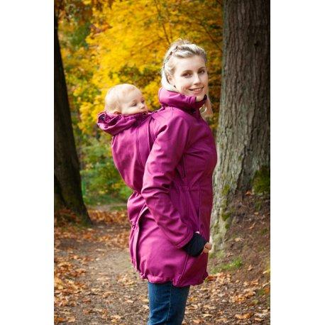 Loktu She babywearing coat - raspberry melange
