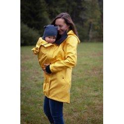 Loktu She babywearing coat - yellow melange