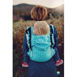 Little Frog ergonomic carrier - Turquoise Anchors