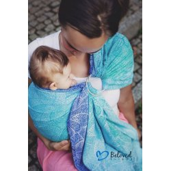Beloved Slings Ring Sling Azure Dahlias
