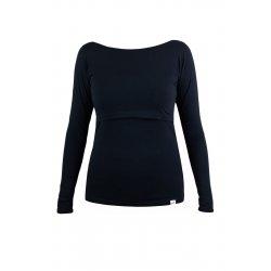 Angel Wings T-shirt for breastfeeding Long sleeved Black