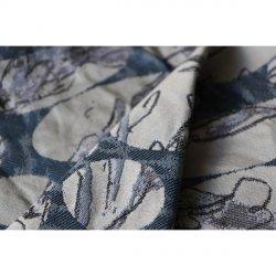 Yaro Ring sling Waterflower Trio Silver Black Blue Tencel