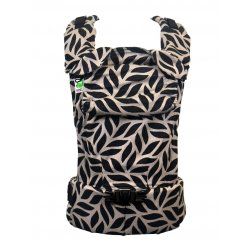 MoniLu ergonomic babycarrier UNI START Leaves Sand