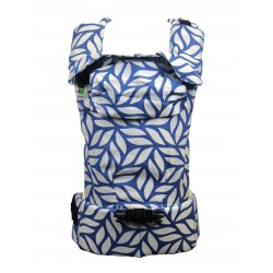 MoniLu ergonomic babycarrier UNI START Leaves Blue