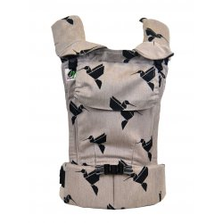 MoniLu ergonomic babycarrier UNI START Colibri Sand