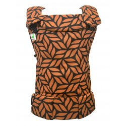 MoniLu ergonomic babycarrier UNI (Adjustable) Leaves Saffron