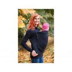 Loktu She babywearing sweater merino - anthracite