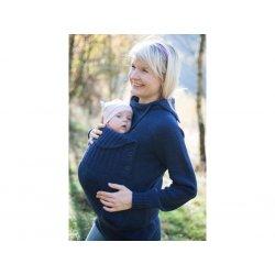 Loktu She babywearing sweater merino - indigo