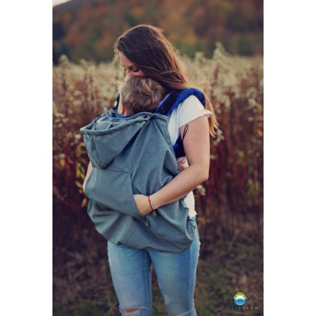 Little Frog softsheel babywearing cover - Grey