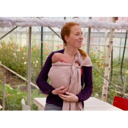 Pure Baby Love Ring sling - Organic - Rose