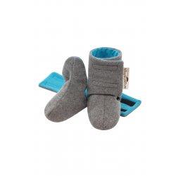 Angel Wings Woolen Shoes - grey