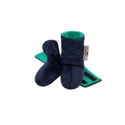 Angel Wings Fluffy Shoes - dark blue