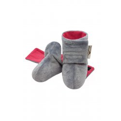 Angel Wings Fluffy Shoes - grey