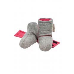 Angel Wings Shoes - grey melange - pink