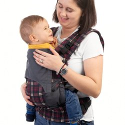 Fidella Fusion babycarrier with buckles - Chequers - Red