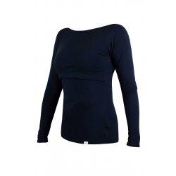 Angel Wings T-shirt for breastfeeding Long sleeved Navy