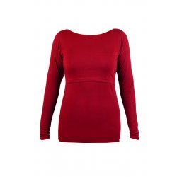 Angel Wings T-shirt for breastfeeding Long sleeved Red