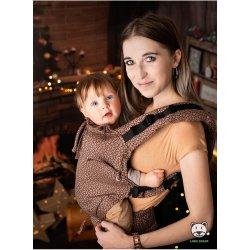 Luna Dream Adjustable babycarrier Multi Size: Little Hearts Coffee