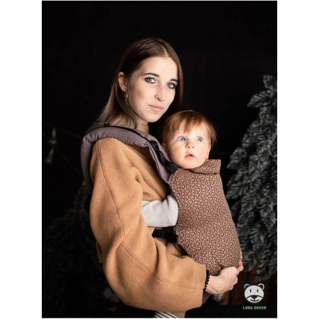 Luna Dream Adjustable babycarrier Grow Up Wrap: Little Hearts Coffee
