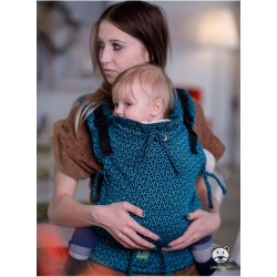 Luna Dream Adjustable babycarrier Multi Size: Little Hearts turquoise