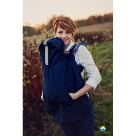 Little Frog softsheel babywearing cover - Navy