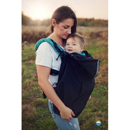 Little Frog softsheel babywearing cover - Black
