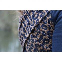Yaro Ring Sling Pussycat Puffy Mocca Dark-Blue Wool Baby Camel