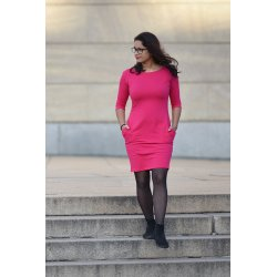 Angel Wings Dress with pockets - magenta