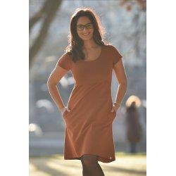 Angel Wings Dress A - short sleeves - Orange