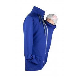 Angel Wings Babywearing Hoodie without zipper on back - blue