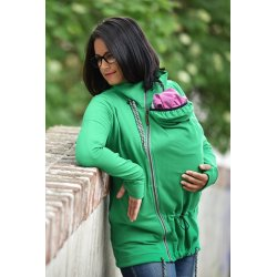 Angel Wings Babywearing Hoodie - green