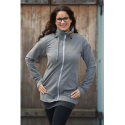 Angel Wings Babywearing Hoodie - grey melange