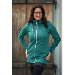 Angel Wings Babywearing Hoodie - emerald green