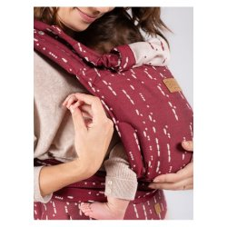 Isara adjustable ergonomic carrier QUICK Half Buckle - Ruby Code