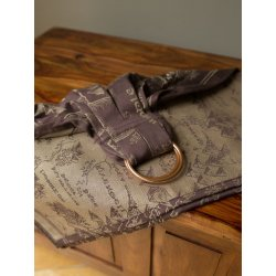 Oscha ring sling Map of Middle Earth Scroll