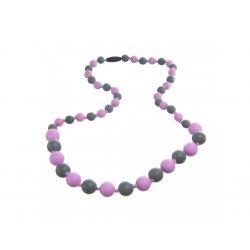 Silicone beads Mama Chic - lilla - grey