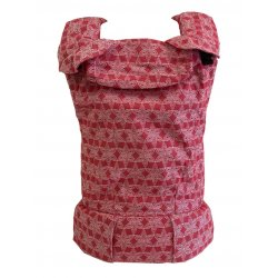 MoniLu ergonomic babycarrier UNI (Adjustable) FlowerField Red