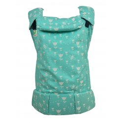 MoniLu ergonomic babycarrier UNI (Adjustable) Tulips Mint