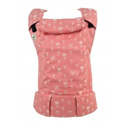 MoniLu ergonomic babycarrier UNI (Adjustable) Tulips Apricot