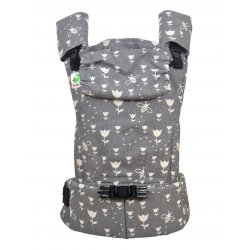 MoniLu ergonomic babycarrier UNI START Tulips Stone