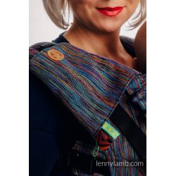 LennyLamb Drool Pads and Reach Straps Set Colorful Wind