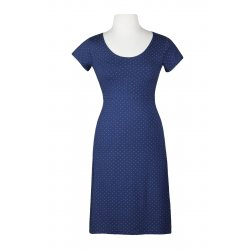Angel Wings Dress A - short sleeves - Blue with white dots