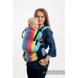 LennyLamb LennyUpGrade adjustable ergonomic carrier - Peacock's Tail - Funfair