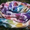 Yaro Ring sling La Fleur Trinity Caribbean Rainbow Cupro Tencel Linen