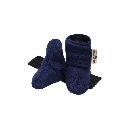 Angel Wings Sweater Shoes - dark blue