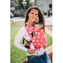 Lenka ergonomical babycarrier - Be Lenka Mini - Fruit - red