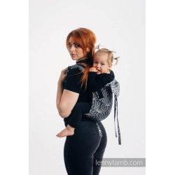 LennyLamb Onbuhimo back carrier - Lotus - Black