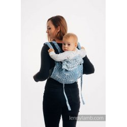 LennyLamb Onbuhimo back carrier - Lotus - Blue