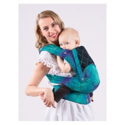 Isara adjustable ergonomic carrier QUICK Half Buckle - Diamonda Northern Lights