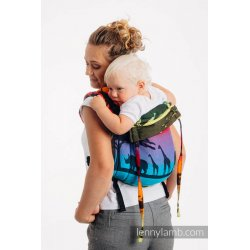 LennyLamb Onbuhimo back carrier - Rainbow Safari 2.0